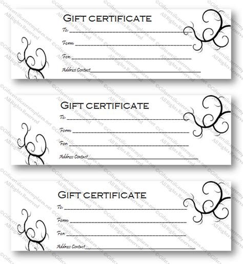 black and white gift certificate template free black bale gift certificate template gift certificates