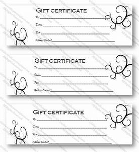 black bale gift certificate template gift certificates With black and white gift certificate template free