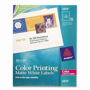 Color laser label avery dennison 6876 ave6876 labels for Colored mailing labels