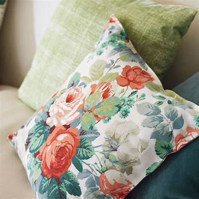 Sanderson Chelsea Fabric Rose Prints Duck Egg