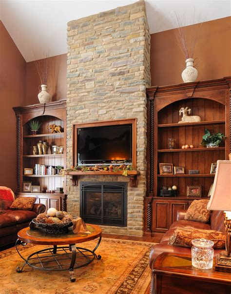 Fireplace With Bookcase Surround by Custom Fireplace Bookcase Surround By Schaad Sons My