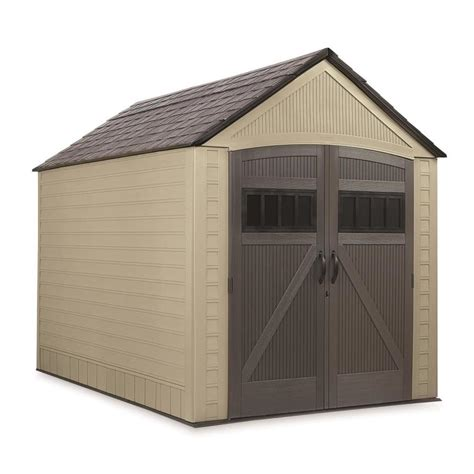 lowes rubbermaid shed shop rubbermaid common 7 ft x 10 ft actual interior