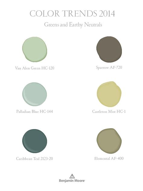 greens and earthy neutrals part of benjamin moore color