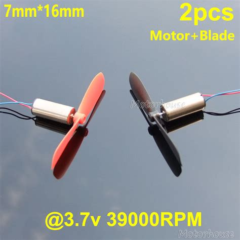 Electric Helicopter Motor by 2pcs Dc 3 7v 39000rpm 7 16mm Helicopter Quadcopter Model