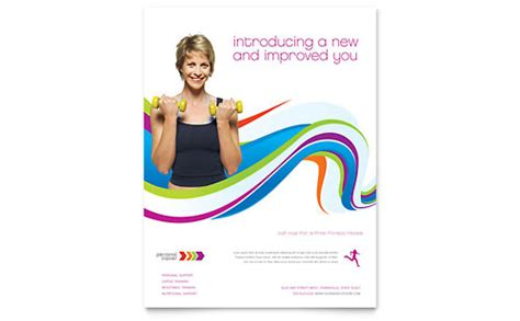 personal trainer business card letterhead template design