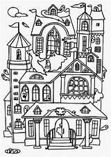 Coloring Haunted Pages Printable Hotel Scribblefun Transylvania sketch template