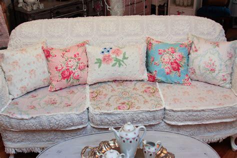 shabby chic slipcovered sofas vintage chic furniture schenectady ny omg antique sofa chenille bedspread slipcover shabby