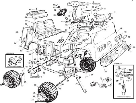 power wheels fire truck parts