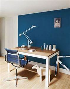 1000 images about peinture bleue salon on pinterest With couleur mur bureau maison 7 deco bureau moderne