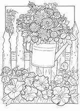 Garden Coloring Adults Advanced Colorers Credit sketch template