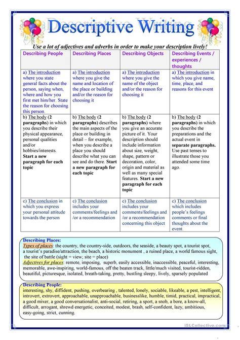 descriptive essay worksheet writing worksheets 2019 03 03