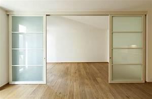 Fabriquer Sa Porte Coulissante Sur Mesure : porte coulissante grande largeur standard sur mesure ~ Premium-room.com Idées de Décoration