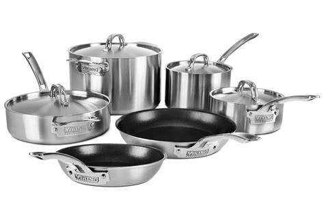 cookware viking professional ply nonstick stainless steel piece skillets sets cutlery brand cutleryandmore