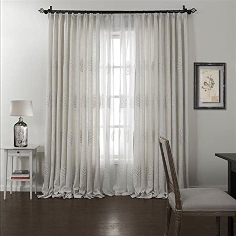 twopages curtain sheer set faux linen slub in white