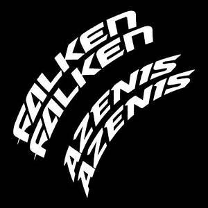 falken azenis tire lettering kit set of 8 decals tire With falken azenis tire lettering