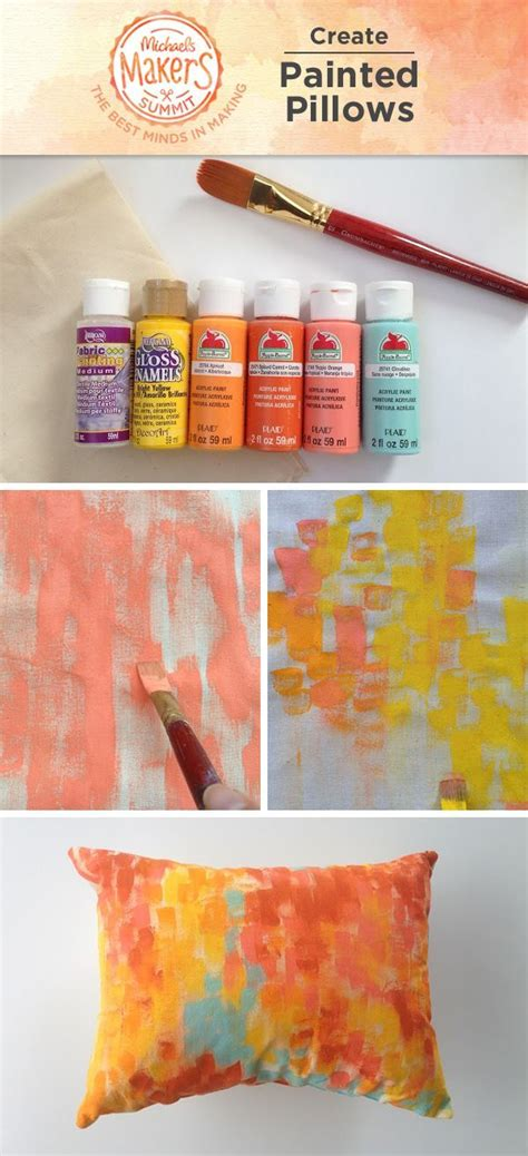 make painted pillows to liven your home these pillows
