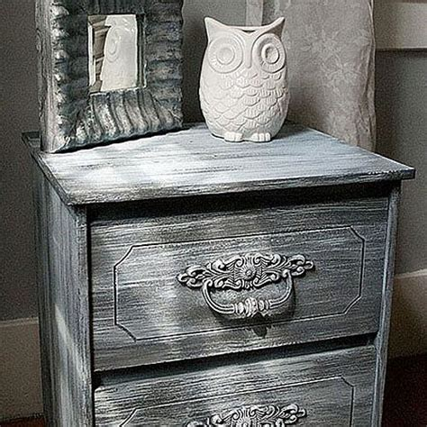 weathered nightstand project  decoart