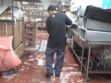 Red Robin Deck Scrub Of Kitchen Floor  Youtube