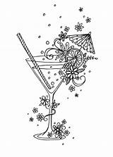 Coloring Pages Adult Cocktail Colouring Sheets Advocate Cocktails Claire Adults Books Halloween Linework London Library Cute Drawing Line Drawings Mcelfatrick sketch template