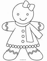 Gingerbread Coloring Printable sketch template