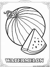 Watermelon Coloring Pages Fruits Printable Drawing Colouring Fruit Template Melon Water Printables Getdrawings Slice Summer Berries Easy Getcoloringpages Eat Under sketch template