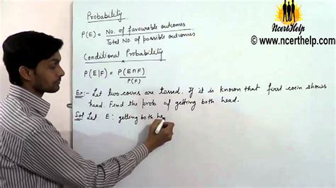 conditional probability definition formula examples youtube