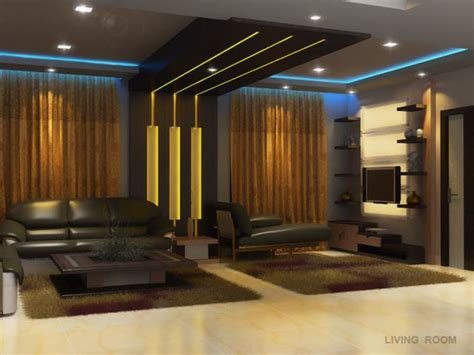 cozy living room  false ceiling  display unit