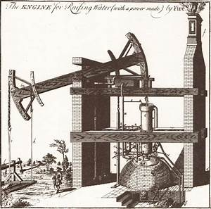 Diagram Of First Newcomen Engine By Henry Beighton 1717