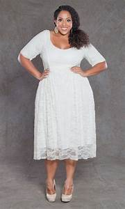 Kara lace dress vintage ivory on white kara lace for Off white plus size wedding dresses