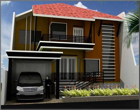 Contoh Desain Rumah 2 Lantai Yang Modern Renovasirumahnet