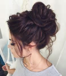 Best 25  Curly bun hairstyles ideas on Pinterest   Messy