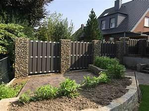 Gabionenzaun Mit Hecke : gabionen s ulen steinkauf natursteine gabionen online kaufen ~ Orissabook.com Haus und Dekorationen