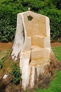Möbel Stump : tree stump ideas oak throne carved using a chainsaw ~ Pilothousefishingboats.com Haus und Dekorationen