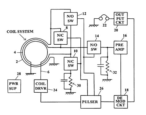 patent  metal detector  improved receiver