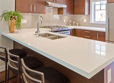 White Quartz Kitchen Countertops Ideas For Install Interiors Inside Ideas Interiors design about Everything [magnanprojects.com]