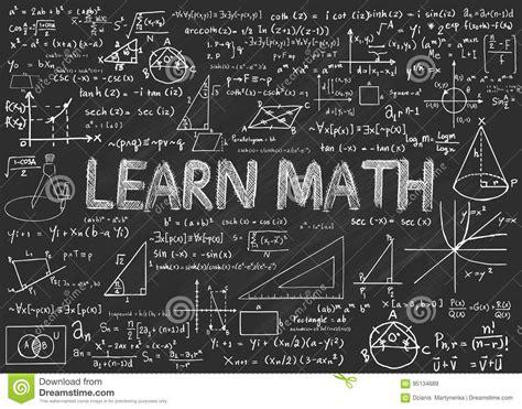 learn math chalkboard stock vector illustration of mathematics 95134689