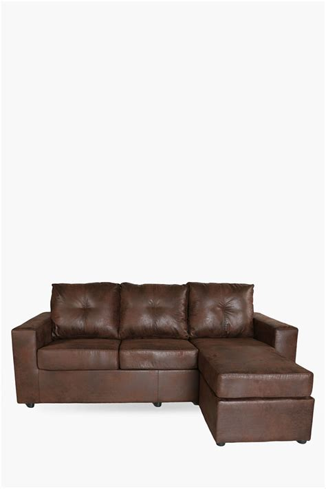 distressed saddlestitch corner sofa shop living room