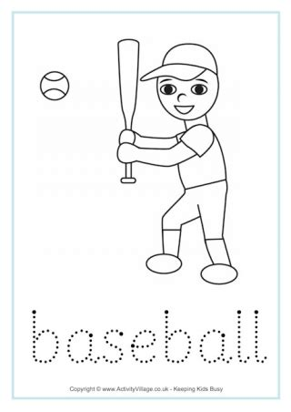 sports word tracing worksheets
