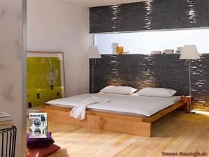 Schlafzimmer Wand Hinter Dem Bett : riemchen caesar florentine schlafzimmerwand hinter dem bett in dunkler steinoptik ~ Eleganceandgraceweddings.com Haus und Dekorationen