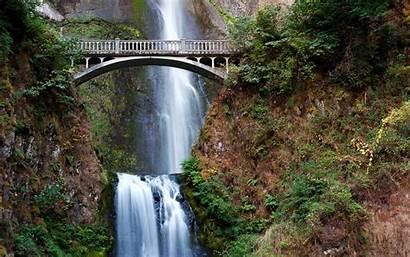 Oregon Desktop Wallpapers Multnomah Falls Scenery Waterfalls