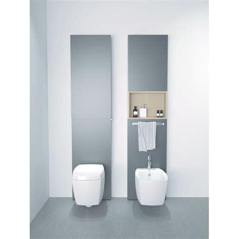 Batisupport avec habillage à caisson de rangement pour WC