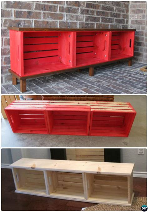 crate furniture bench 20 best entryway bench diy ideas projects picture