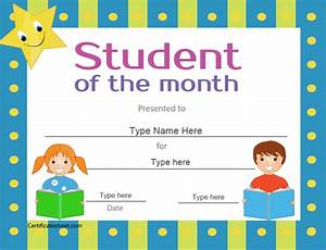 student of the month award certificate template quotes With free printable student of the month certificate templates