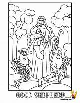 Shepherd Jesus Coloring Pages Colouring Sheet Printable Bible Yescoloring Numberjacks Trending Days Last Glorious sketch template