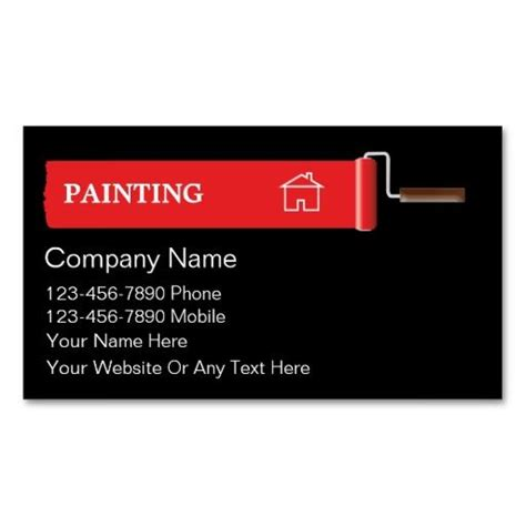 house painting business cards estate agent business card