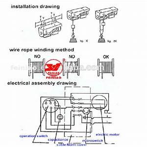 Hoist Machine Mini Electric Wire Rope Hoist Small Lifting