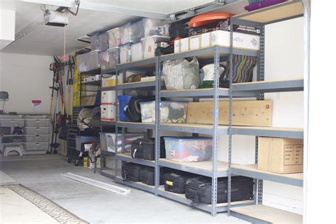 Garage Shelving Track by Simply Done Custom Wall Of Garage Shelving Simply Organized