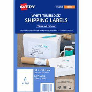 avery shipping labels 6 per page avery bulk shipping labels