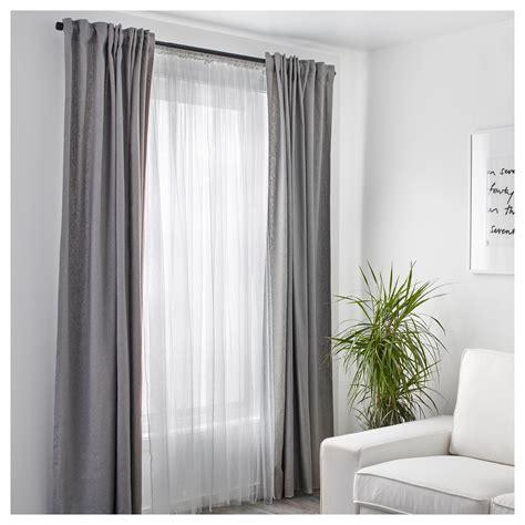 Gardinen Bei Ikea lill net curtains 1 pair white 280 x 250 cm ikea