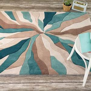 Tapis Rond Noir Et Blanc : tapis design infinite bleu canard par flair rugs ~ Dailycaller-alerts.com Idées de Décoration